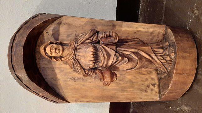 """rzeźba drewniana """"kobieta z dzbanem"""""""