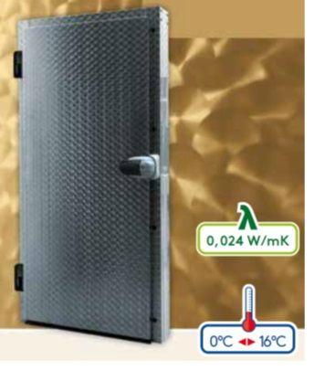 Drzwi chłodnicze zawiasowe jednoskrzydłowe
