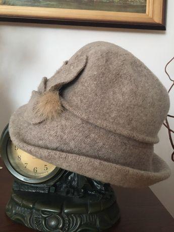 Kapelusz kapelusik, melonik wełniany wełna