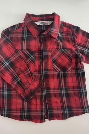 Koszula w kratę czerwona jak nowa cocodrillo r 80
