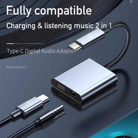 Mcdodo PD USB C 3.5mm+Type-C Адаптер для наушников iPad Macbook Huawei