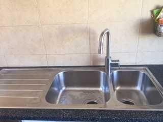 Lava-loiças para bancada de cozinha em inox
