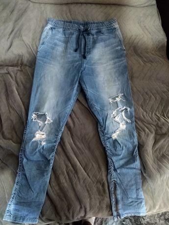 Spodnie męskie jeans joggery H&M