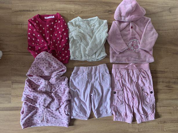 Bluzy sweterki spodnie 62-68 cm