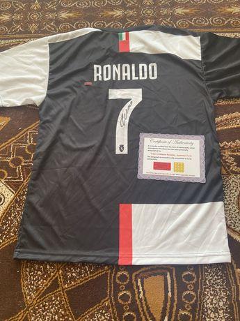 Koszulka Cristiano Ronaldo Juventus oryginalny autograf Certyfikat