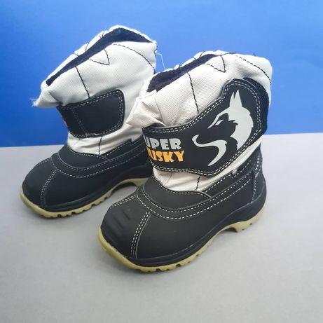 Зимние термо ботинки сапоги зимові черевики чоботи 22р  14 см