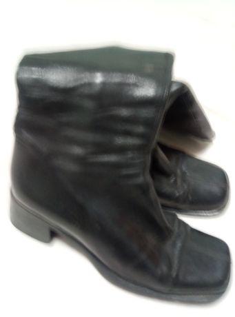 Дешево! Кожаные сапоги женские осенние по 75 грн