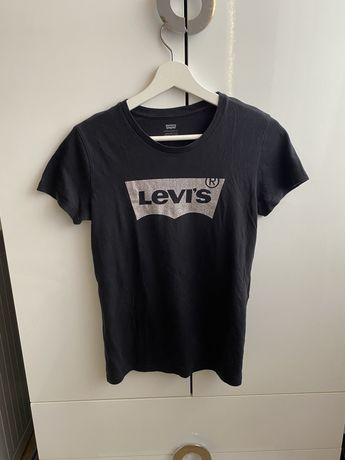 Czarna koszulka levis xs