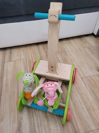 Zabawka drewniana pchacz chodzik