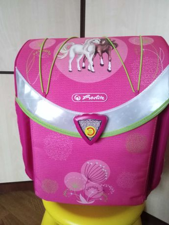 Школьный рюкзак-ранец herlitz flexi plus spring horse