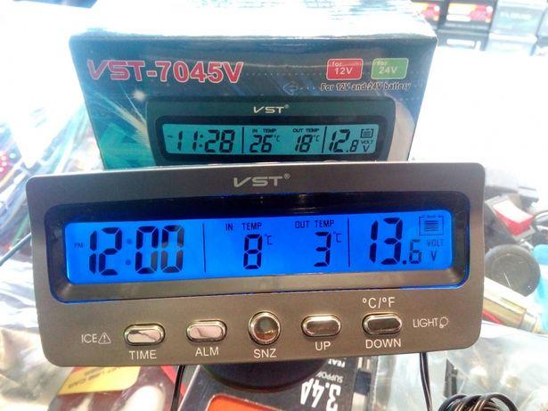 Автомобильные часы вольтметр термометр VST 7045V,7042V,7009V.Ваз 2106