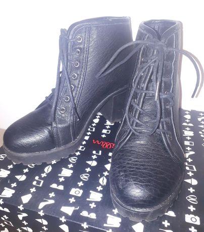 Czarne wysokie buty jesień zima Cropp 36