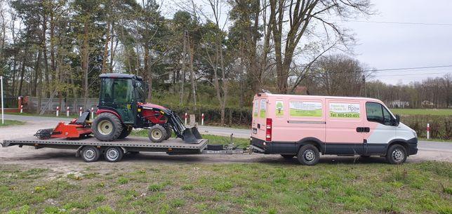 Usługi ciągnikiem ogrodowym, glebogryzarka separacyjna