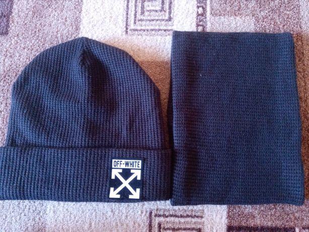 Набор шапка + хомут для мальчика