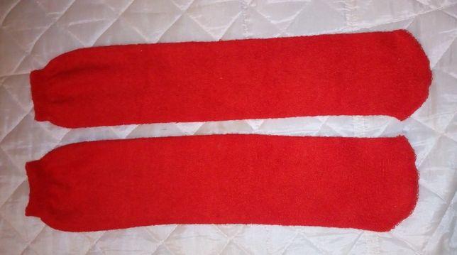 Cieplutkie skarpety czerwone rozmiar uniwersalny
