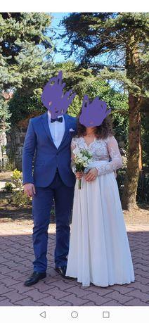 Suknia ślubna 38 emo kolor biały /śmietankowy