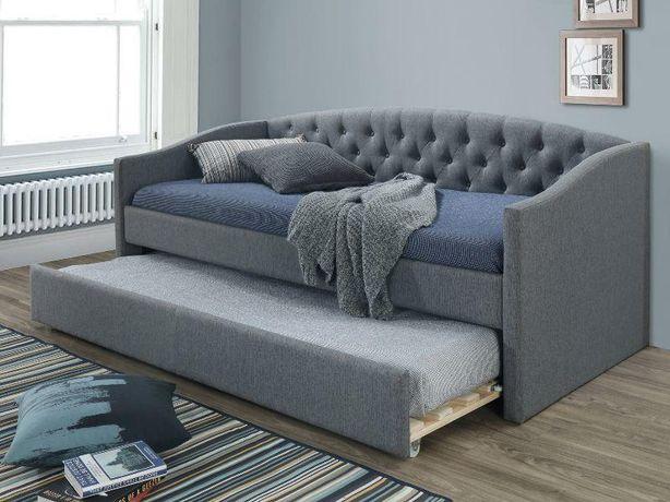 ALESSIA 90 x 2 – łóżko tapicerowane szare Transport gratis !! RATY !!