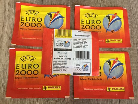 Saquetas cromos Euro 2000 Panini