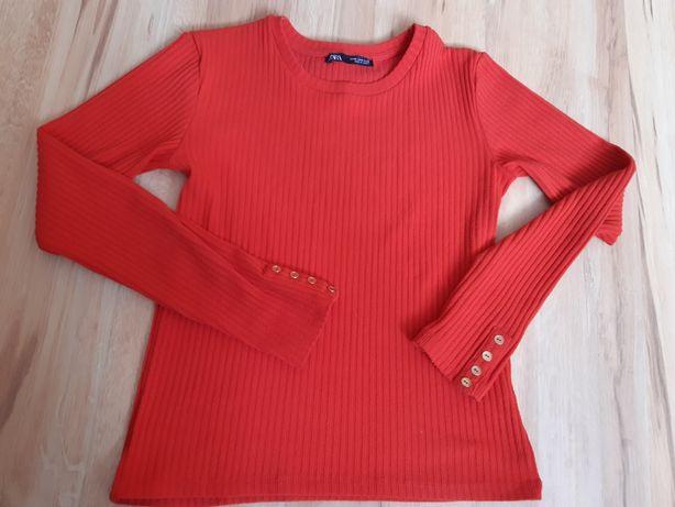 Piekny czerwony sweterek zara M 38