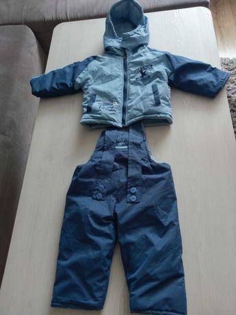 Kombinezon kurtka+spodnie zimowe na sanki rozmiar 6-12miesięcy