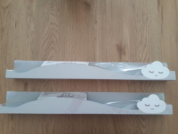 Półka chmurka szara na książki zabawki ikea 2 sztuki