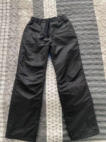 Плащевые черные детские штаны Outventure, рост 140