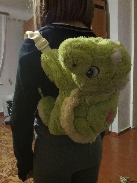 Рюкзак детский, мягкая игрушка