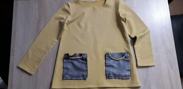 Ekstra tunika z kieszeniami że skórki, super modna rozm. 116/122