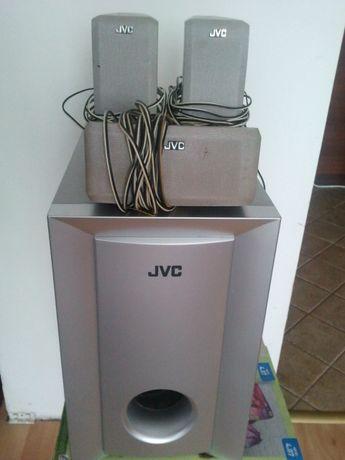 JVC, zestaw kina domowego, 1+4=Subwoofer SP-WA5 i reszta głośników-4