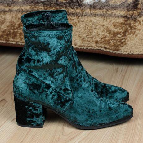 Велюровые полусапожки ботинки ботильоны Albachiara Италия 40р. 25,5 см