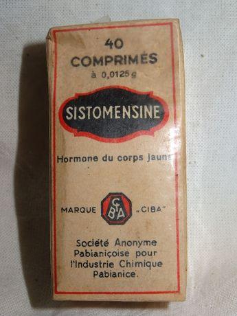 Sistomensina przedwojenny lek nieotwierany 1937 Pabjanice