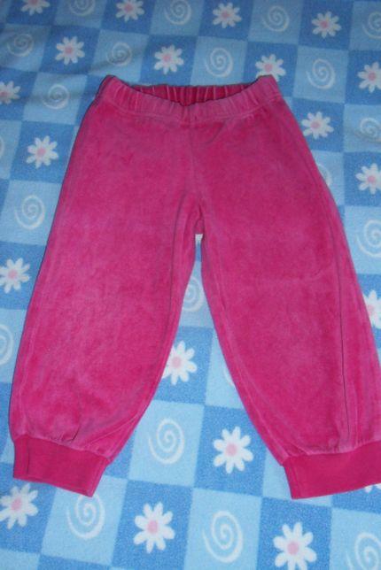 Spodnie welurowe rozmiar 86/92