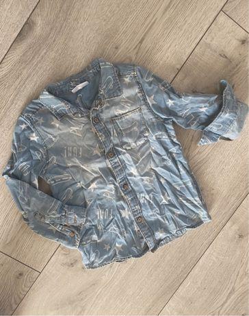 Koszula jeansowa jasny jeans 92/98