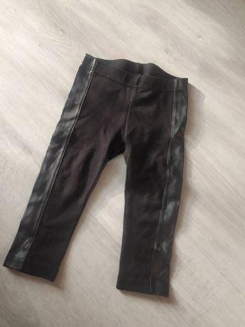 Leginsy spodnie wstawki eko skora 86