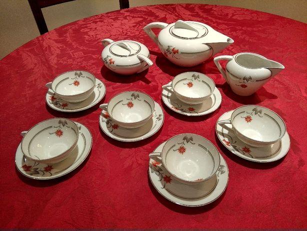 Serviço de Chá Art Deco - Electro Ceramica