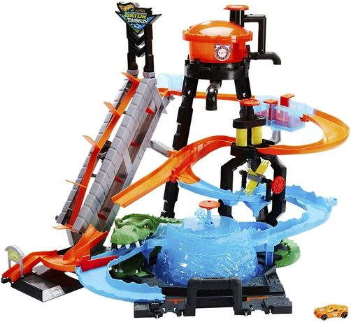 hot wheels автомойка водонапорная башня ultimate gator car wash