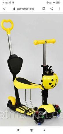 Детский самокат 5 в 1 Scooter
