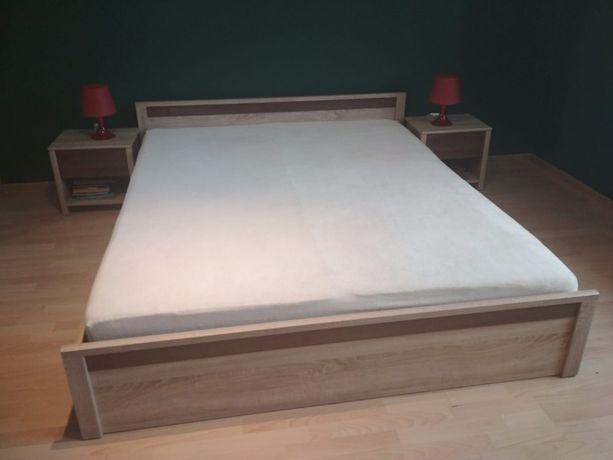Łóżko, 2 szafki nocne i szafa. Zestaw do sypialni