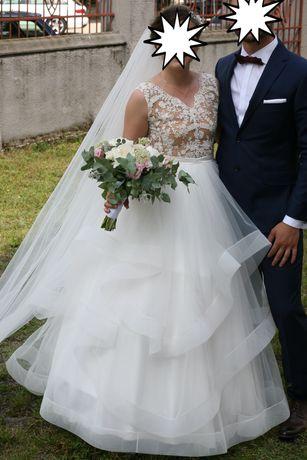 Suknia ślubna SZYBKO SPRZEDAM 2020 r. 36 174cm + dużo NOWYCH GRATISÓW