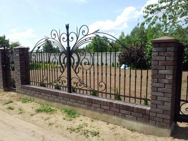 przęsła ogrodzenie kute kowalstwo