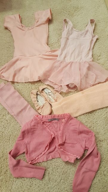 Kostiumy, baletki, getry dla baletnicy