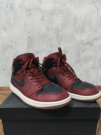 Кроссовки Jordan 1 Mid Team Red Black