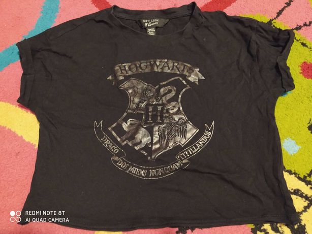 Bluzka koszulka krótka czarna Harry Potter 10-11 lat