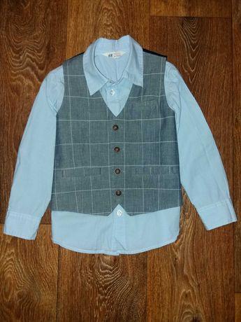 Рубашка h&m/жилетка/брюки 4-5 лет.
