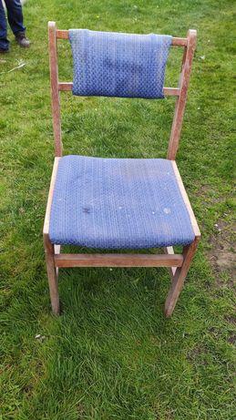 krzesło tapicerowane do renowacji/odnowienia PRL vintage