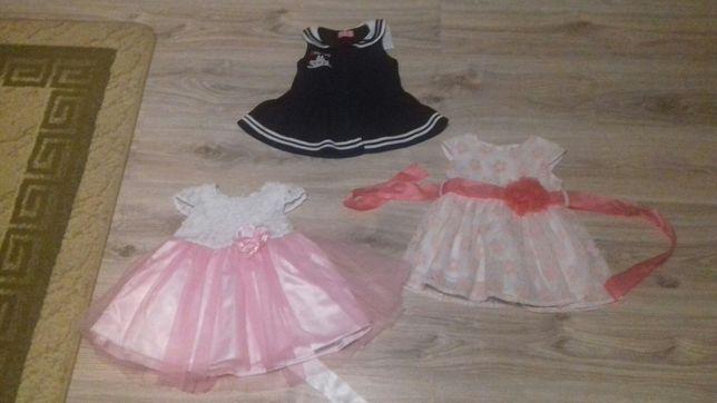 Sukienka, sukieneczki dla dziewczynki 74, 80