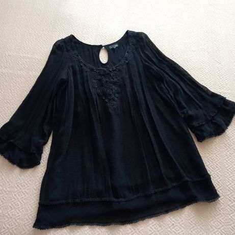 Платье-туника с кружевом.Размер 18