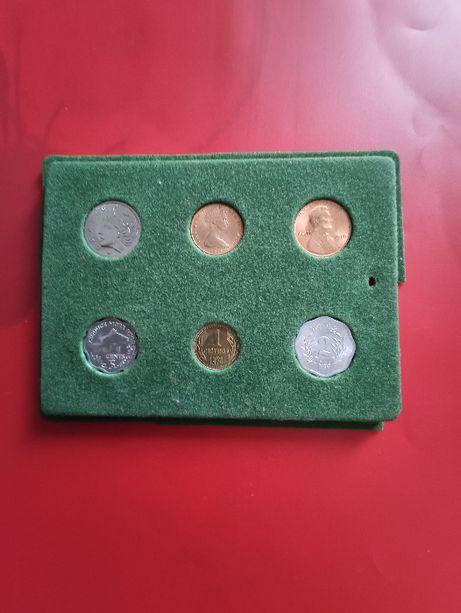 Sprzedam zestaw monet 6szt z lat 70- 20 wieku