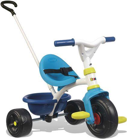 Triciclo Be Fun azul com puxador