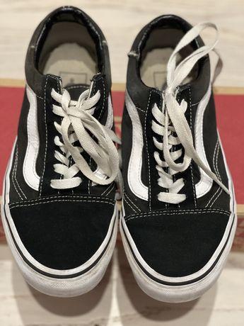 Кеды Vans, оригинал, размер 36,5(23см), цвет черный, замша.